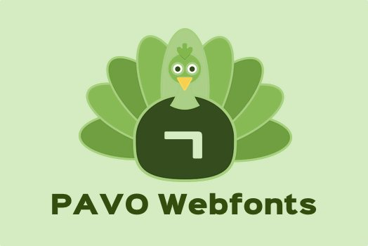 PAVO Webfonts