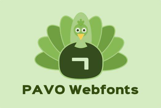 PAVO Webfonts
