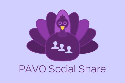 PAVO Responsive Social Share